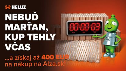 Poukaz na nákup v e-shope Alza.sk je možné za objednávku tehál HELUZ získať do konca marca