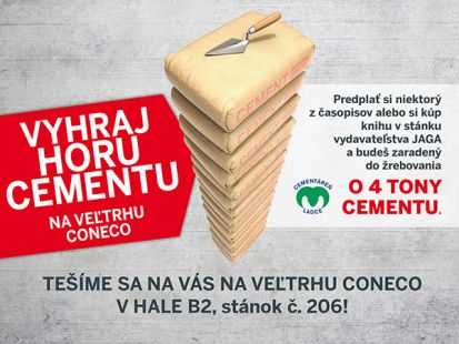 Vyhraj horu cementu na veľtrhu CONECO