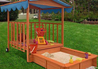 Ako vybrať záhradné pieskovisko pre deti