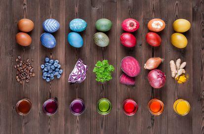 Ako na prírodné farbenie veľkonočných vajíčok