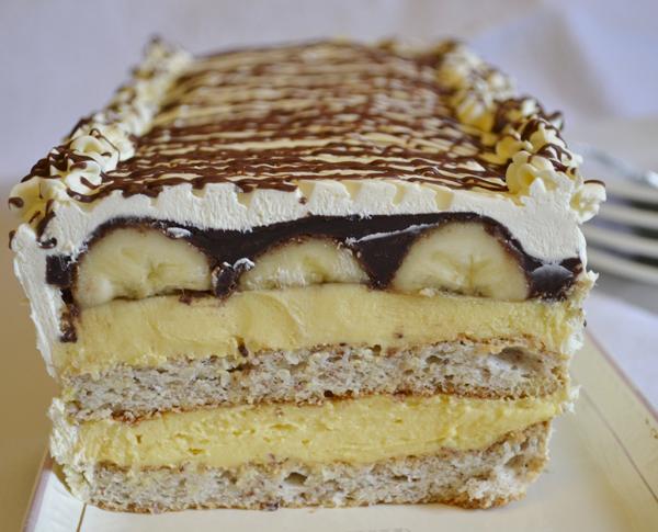 Mandľovo-banánový dezert
