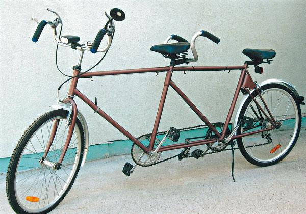 tandemovy bicykel