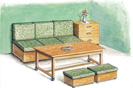 viacucelova sedacia suprava do malej izby